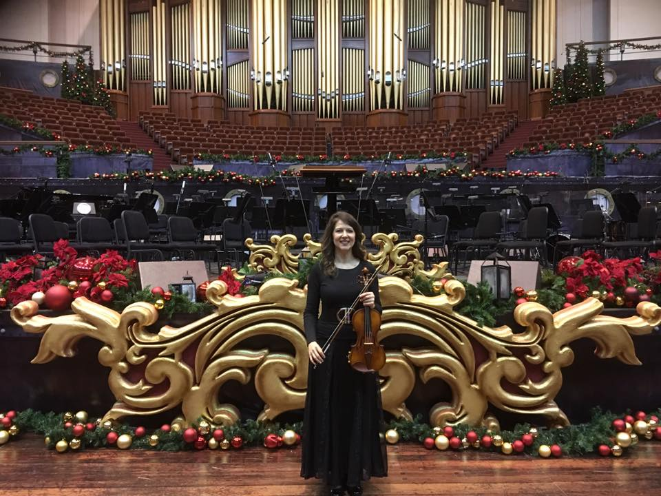 Jackie before Christmas Performance at Temple Square