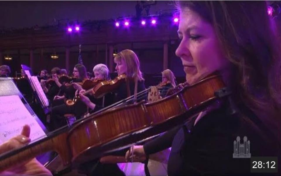Jackie with Orchestra at Temple Square